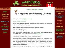 Comparing and Ordering Decimals Lesson Plan