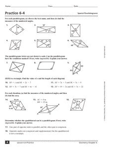Special Parallelograms Lesson Plans & Worksheets Reviewed by Teachers