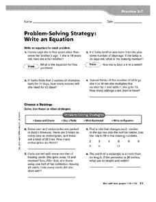 Problem-Solving Strategy Strategies Worksheet