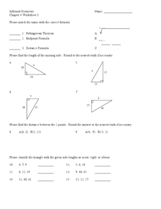 Informal Geometry Worksheet
