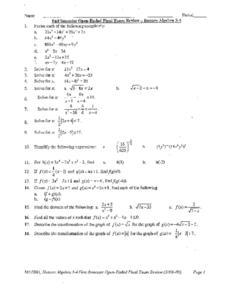 fall semester exam review sheet Algebra semester 1 exam formula sheet algebra semester 1 exam review packet.