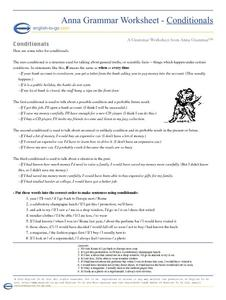 Conditionals Worksheet
