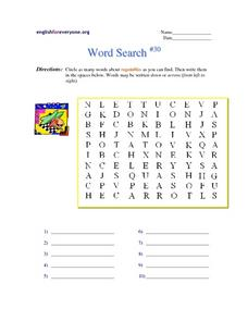 Word Search #30 Worksheet