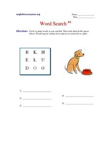 Word Search #4 Worksheet
