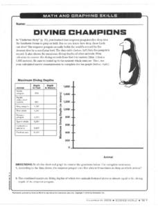 Diving Champions Worksheet