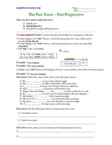 The Past Tense - Past Progressive Worksheet