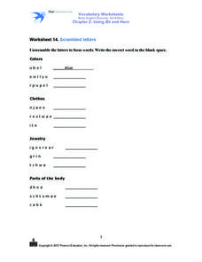 Worksheet 14. Scrambled Letters Worksheet
