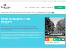 Comparing Apples and Oranges Lesson Plan