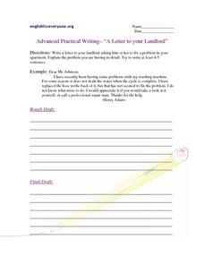 Advanced Practical Writing - A Letter to your Landlord Writing Prompt