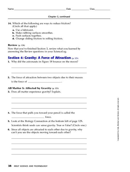 All Worksheets » Gravity Worksheets - Free Printable Preeschool ...