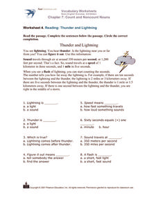 Vocabulary Worksheets - Count and Noncount Nouns Worksheet