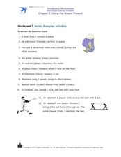 Verbs: Everyday Activities Worksheet