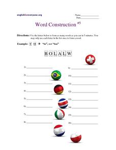 Word Construction #5 Worksheet