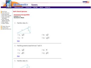 Geometric Mean Worksheet