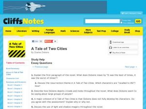 A Tale of Two Cities by Charles Dickens Graphic Organizer