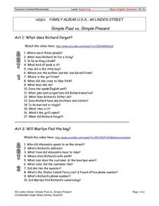 Simple Past vs. Simple Present Worksheet