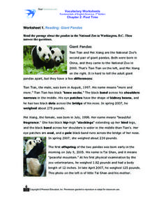 Worksheet 1. Reading: Giant Pandas Worksheet