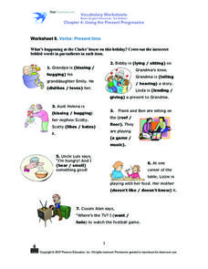 Worksheet 9. Verbs: Present Time Worksheet