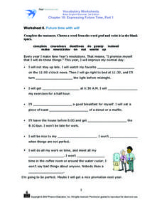 "Future Time with ""will"" Worksheet"