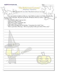 """The Halloween Costume"" Lesson Plan"