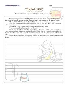 The Perfect Gift Worksheet