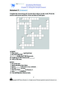 Worksheet 17: Crossword Worksheet