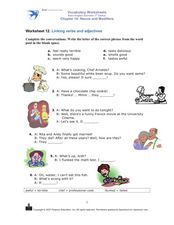 Linking Verbs and Adjectives Worksheet