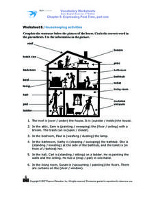 Vocabulary Worksheet Basic English 3rd Edition Chapter 8: Expressing Past Tense Part One Worksheet