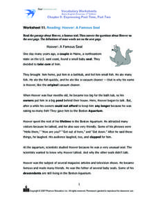 Vocabulary Worksheets Basic English Grammar, 3rd Edition Chapter 9: Expressing Past Time Part Two Worksheet