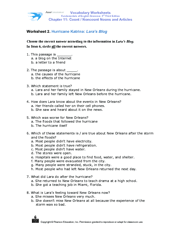 Hurricane Katrina Lesson Plans Worksheets Reviewed by Teachers – Hurricane Worksheets