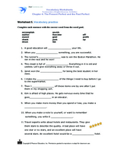 Worksheet 5 Vocabulary Practice Worksheet
