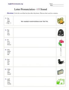 Letter Pronunciation - /f/ Sound Worksheet