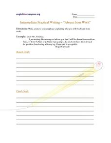 Absent from Work Worksheet