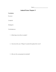 Animal Farm Chapter 9 Lesson Plan