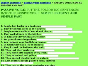 Passive Voice Activities & Project