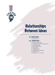 Relationships Between Ideas Worksheet