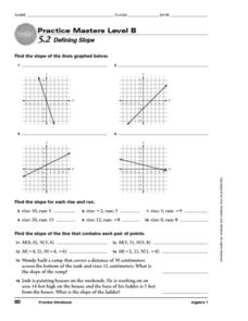 5.2 Defining Slope Worksheet