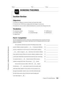 Bonding Theories Worksheet