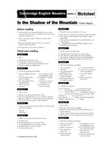 In the Shadow of the Mountain by Helen Naylor Lesson Plan