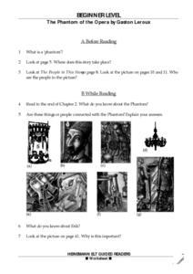 The Phantom of the Opera by Gaston Leroux Worksheet
