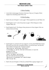 Tom Sawyer by Mark Twain Worksheet
