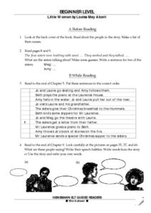 Reading Guide- Little Woman by Louisa May Alcott Worksheet