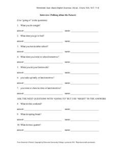 Future Tense Worksheet Worksheet