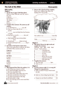 The Call of the Wild Activity Worksheets Chapters 1-4 Worksheet