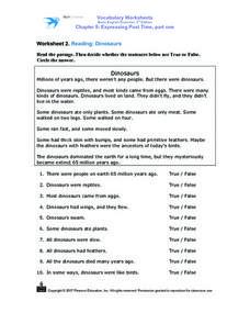 Dinosaurs- Reading Comprehension Worksheet for 2nd - 3rd ...