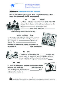 Using Nouns and Pronouns Worksheet
