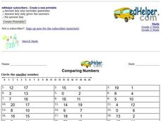 Comparing Numbers Worksheet
