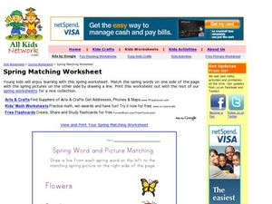 Spring Matching Worksheet Worksheet