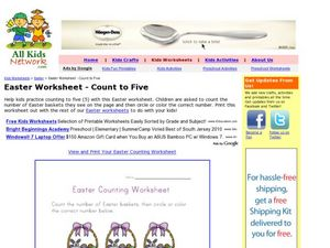 Easter Worksheet- Count to Five Worksheet