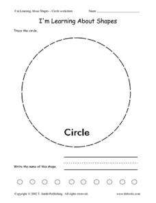 I'm Learning About Shapes - Circle Worksheet Worksheet